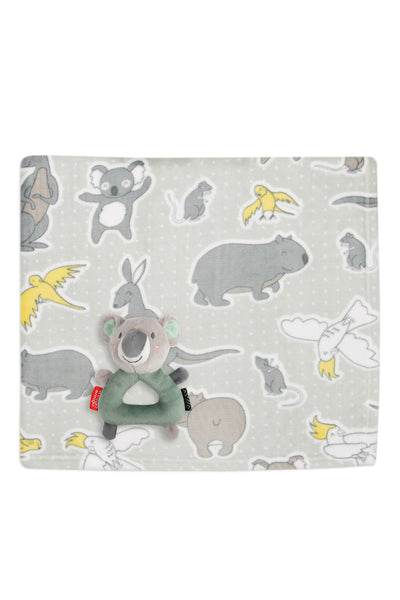 Weegoamigo / Colourplay Plush Rattle & Blanket Gift Set - Koala