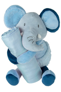 Weegoamigo / Colourplay Plush Toy & Muslin Set - Elephant