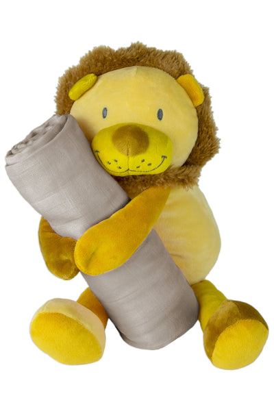 Weegoamigo / Colourplay Plush Toy & Muslin Set - Lion