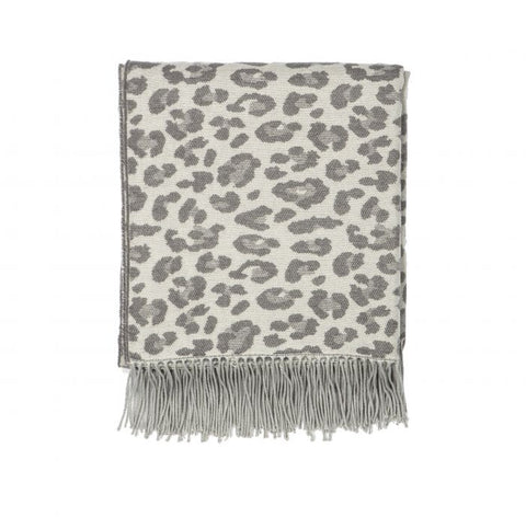 Amalfi / Leopard Throw (127x152cm) - Grey