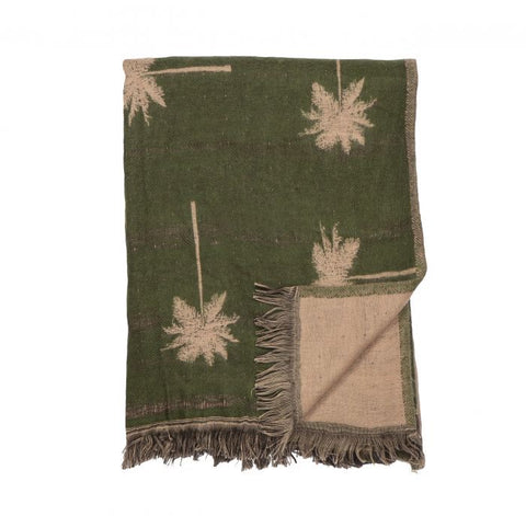 Amalfi / Palm Throw (125x150cm) - Pink/Green