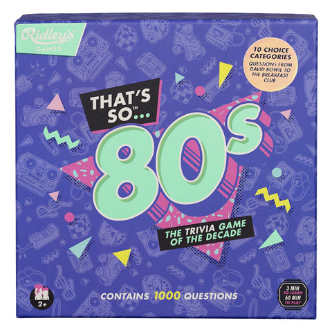 Ridley's Games / That's So 80s Quiz UK