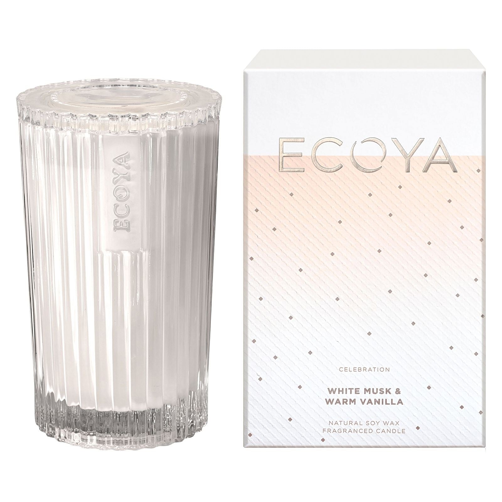 Ecoya / Celebration Candle (Med) - White Musk & Warm Vanilla