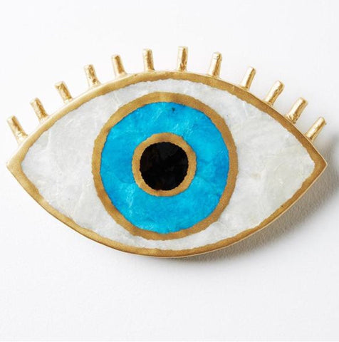 Jones & Co / Capiz Evil Eye Wall Art