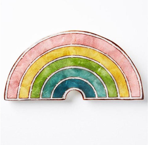 Jones & Co / Capiz Colour Rainbow Wall Art