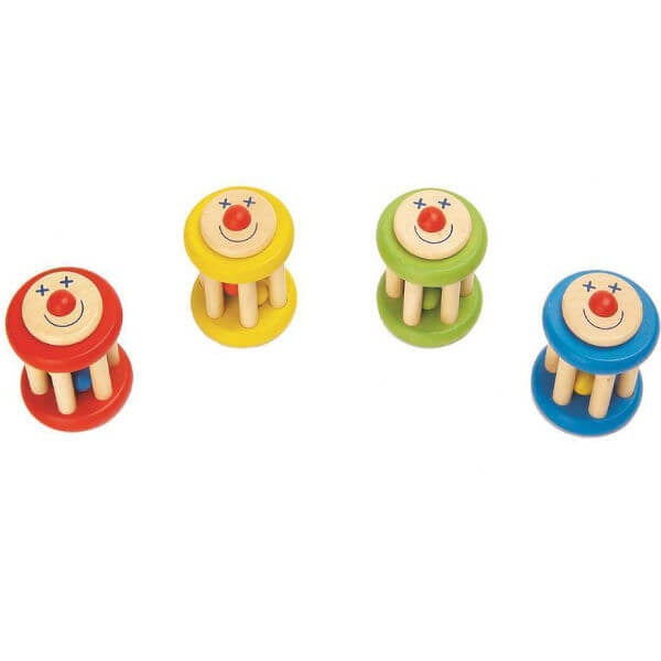 Kaper Kidz / Smiley Face Wooden Rattle