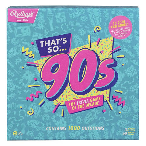 Ridley's Games / That's So 90s Quiz