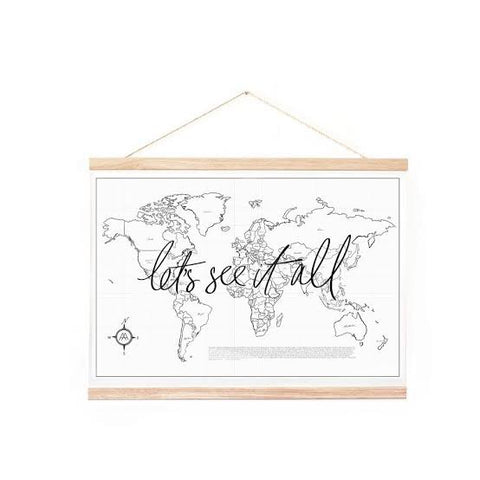 Axel & Ash / Let's See It All World Map Poster