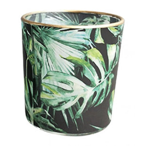 Urban Products / Monstera Leaf Tealight Holder - Blk/Gold