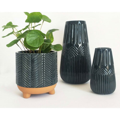 Urban Products / Zari Vase (Sm) - Navy