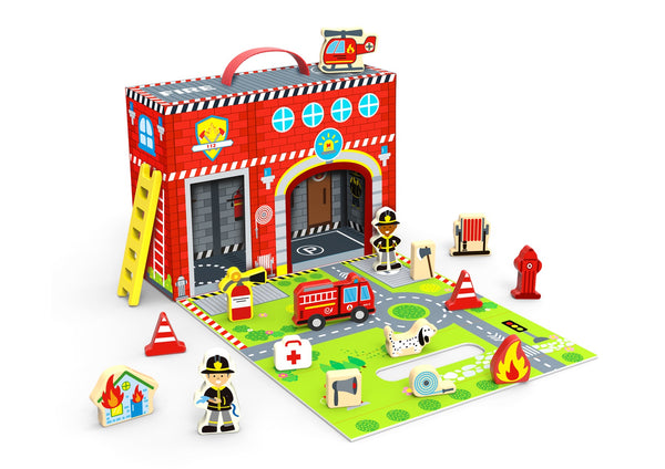 Tooky Toy / Fire Station Travel Box