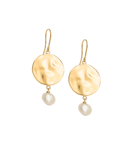 Kirstin Ash / Tidal Pearl Earrings - Gold