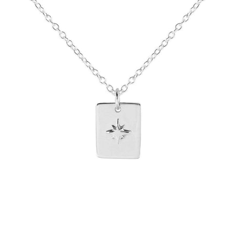 Midsummer Star / Celestial Medallion Necklace - Silver