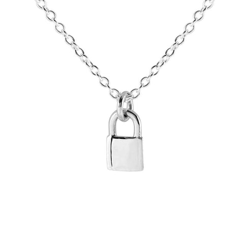 Midsummer Star / Lock Me Up Necklace - Silver