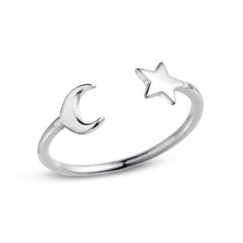 Midsummer Star / Take Me To The Moon Ring - Silver