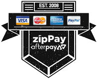 We accept Paypal and all major credit cards. Afterpay and Zippay also available.