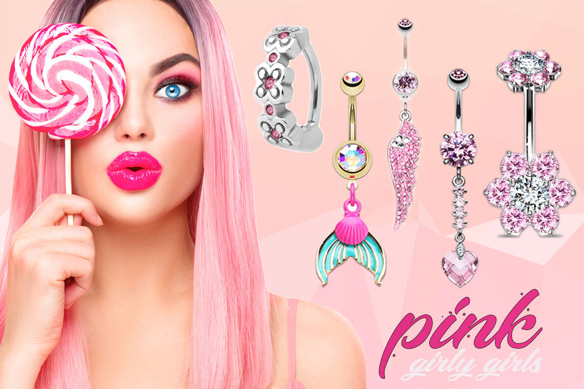 It's all pink! Shop online for pink body jewellery here!