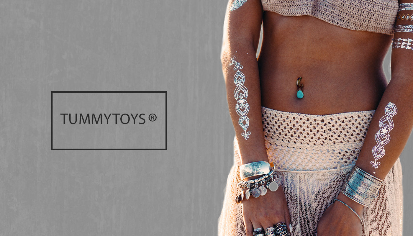Premium Silver and Gold Belly Rings by TummyToys