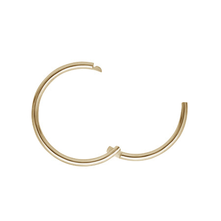 Earring. Quality Belly Rings. Plain Hoop Earring by Maria Tash in Gold