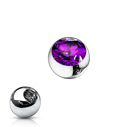 Replacement Ball. Navel Rings Australia. 14g Gem Replacement Balls for Belly Rings