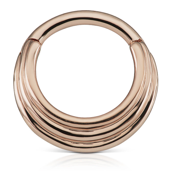 Hiranya Clicker by Maria Tash in Rose Gold - Earring. Navel Rings Australia.