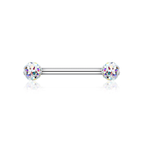 Nipple Ring. Quality Belly Bars. Ice White Motley™ Nipple Ring