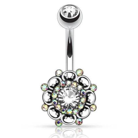 Snowball Motley Belly Piercing Ring