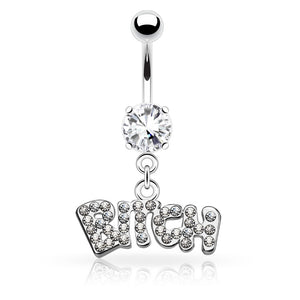 Glam Bitch Belly Piercing - Dangling Belly Ring. Navel Rings Australia.