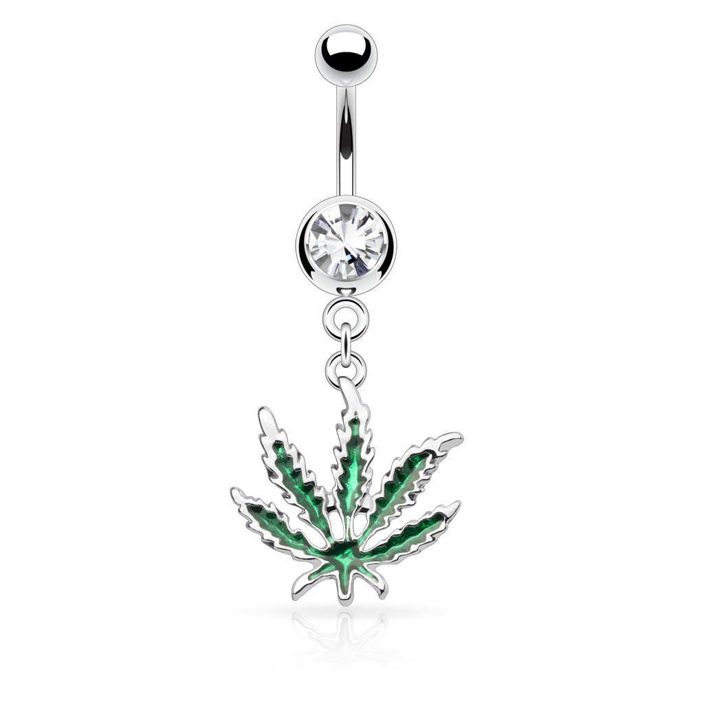 Off Chops Vivid Green Mary J Belly Ring - Dangling Belly Ring. Navel Rings Australia.