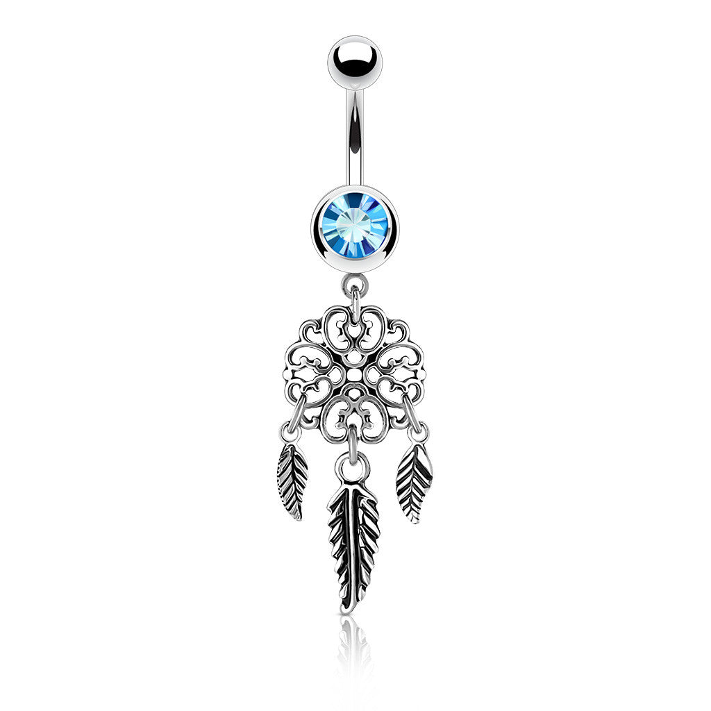 Dangling Belly Ring. High End Belly Rings. Vayas Dreamer Belly Ring
