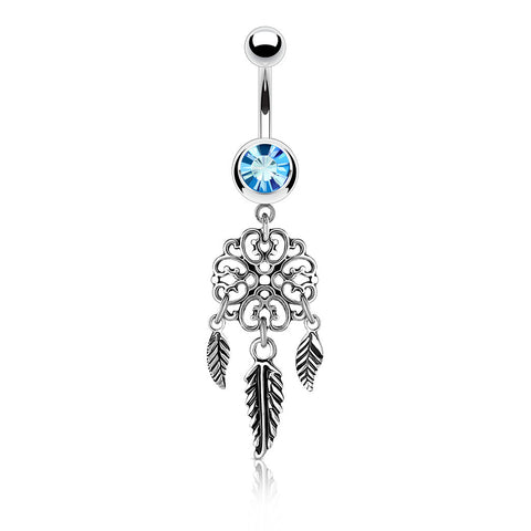 Vayas Dreamer Belly Ring - Dangling Belly Ring. Navel Rings Australia.