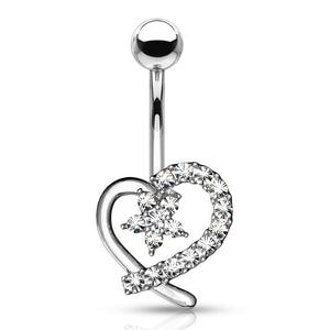 Lost in Love Belly Bar - Fixed (non-dangle) Belly Bar. Navel Rings Australia.