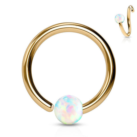 Classique Opal Captive Belly Rings