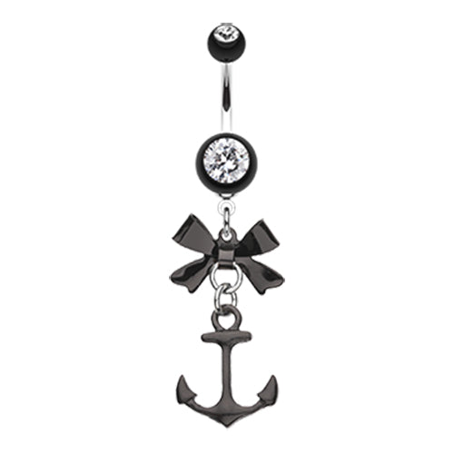 Dangling Belly Ring. Navel Rings Australia. Party Boat Anchor Navel Ring