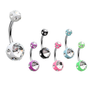 Mezzi Royale Gem Acrylic Belly Bar - Basic Curved Barbell. Navel Rings Australia.