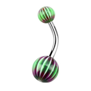 Candy Web Acrylic Belly Bar - Basic Curved Barbell. Navel Rings Australia.