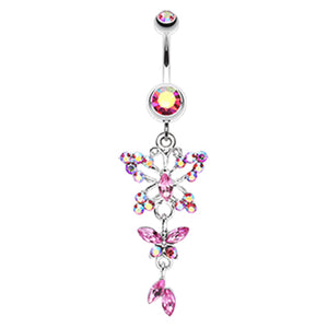 The Albatross Butterfly Navel Ring - Dangling Belly Ring. Navel Rings Australia.