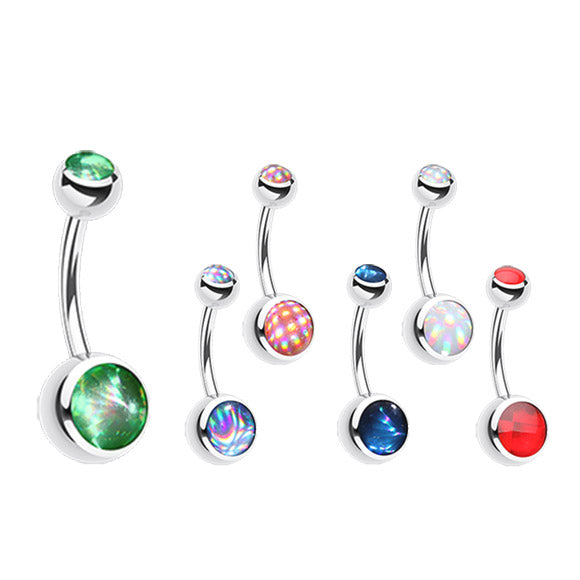 Hologram Classique Belly Rings - Basic Curved Barbell. Navel Rings Australia.