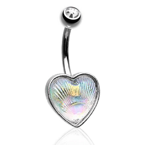 Fixed (non-dangle) Belly Bar. High End Belly Rings. Anahata Heart Chakra Belly Bar