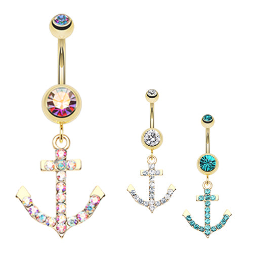 Drop the Anchor Belly Dangle - Dangling Belly Ring. Navel Rings Australia.