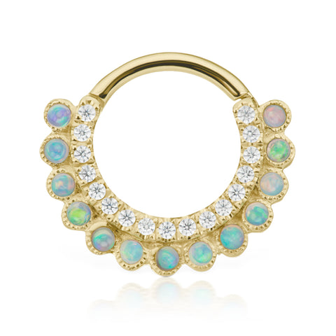 Apsara Opal Clicker by Maria Tash in Gold