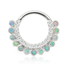 Apsara Opal Clicker by Maria Tash in White Gold