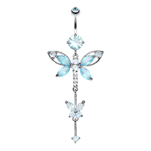 Dangling Belly Ring. Belly Bars Australia. Carmalés Butterfly Belly Ring