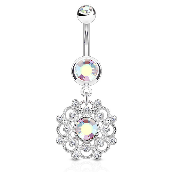 Aurora's Ambrosial Belly Ring - Dangling Belly Ring. Navel Rings Australia.