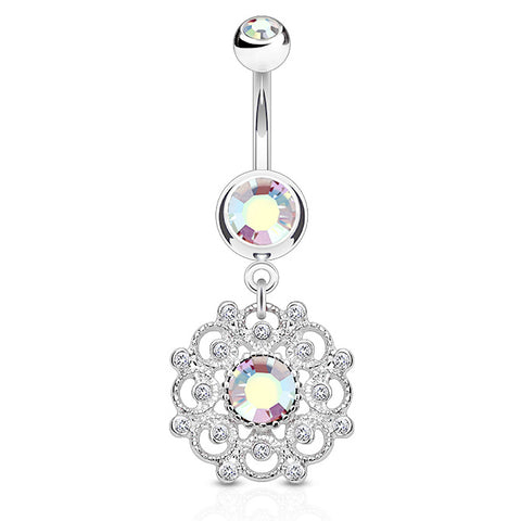 Dangling Belly Ring. Belly Bars Australia. Aurora's Ambrosial Belly Ring