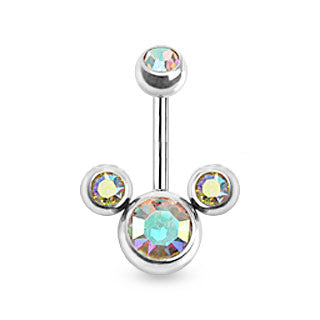 Aurora Borealis Mickey Mouse Bananabell Belly Bars