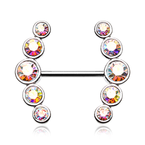 Vertical Glitz Nipple Ring Jewellery - Nipple Ring. Navel Rings Australia.