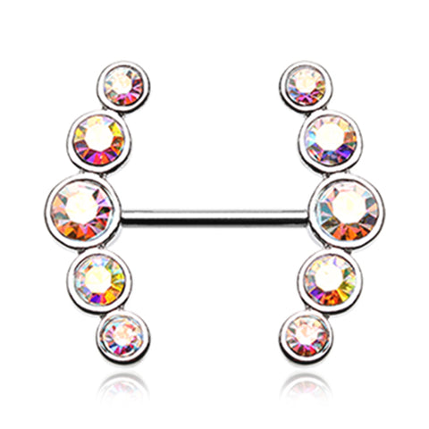 Nipple Ring. Cute Belly Rings. Vertical Glitz Nipple Ring Jewellery