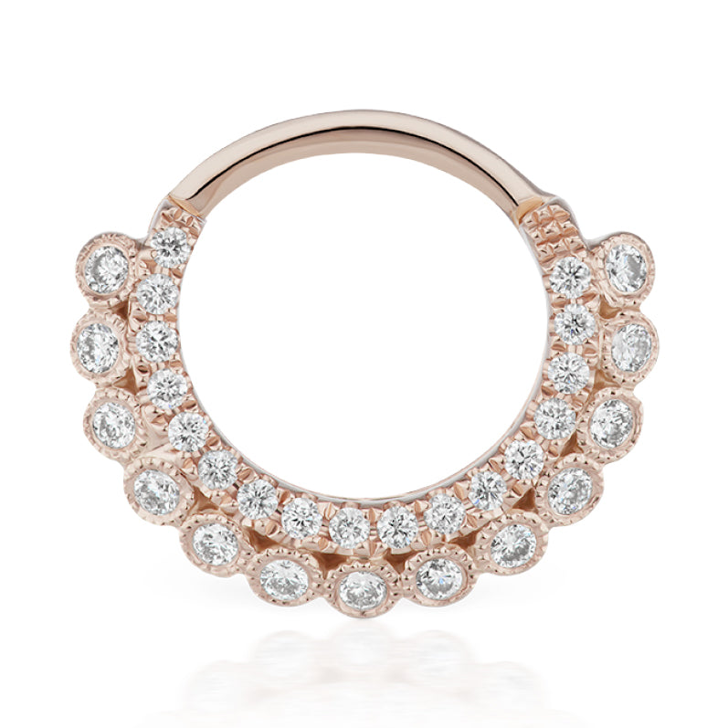 Apsara Diamond Clicker by Maria Tash in Rose Gold - Earring. Navel Rings Australia.
