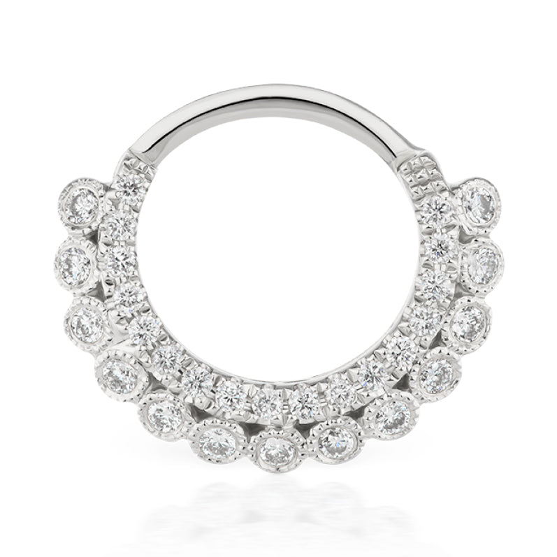 Apsara Diamond Clicker by Maria Tash in White Gold - Earring. Navel Rings Australia.